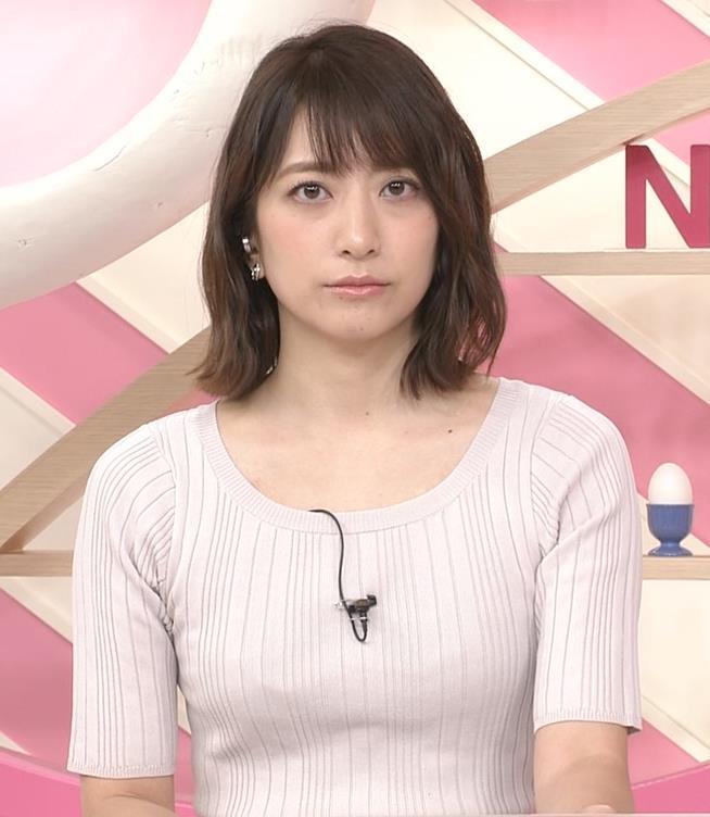 笹崎里菜アナ 安定のニット乳キャプ・エロ画像5