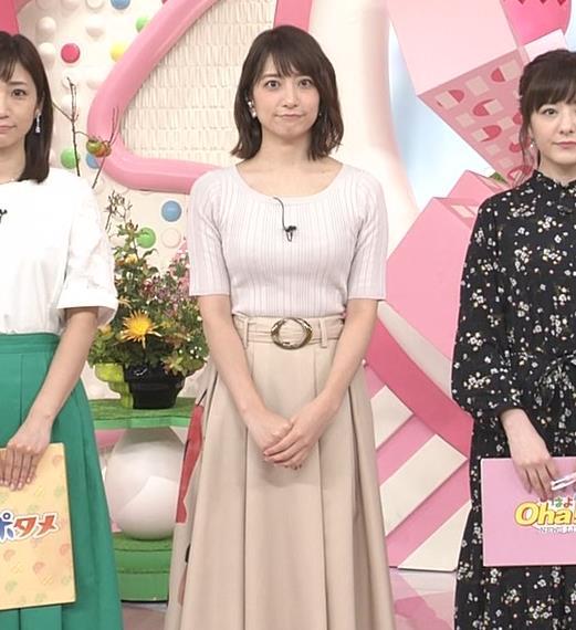 笹崎里菜アナ 安定のニット乳キャプ・エロ画像7