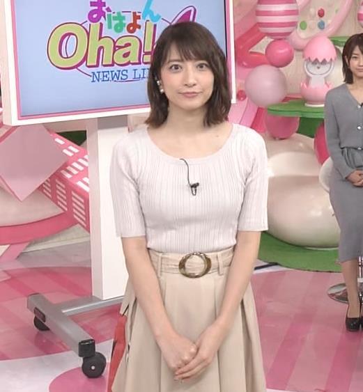 笹崎里菜アナ 安定のニット乳キャプ・エロ画像8