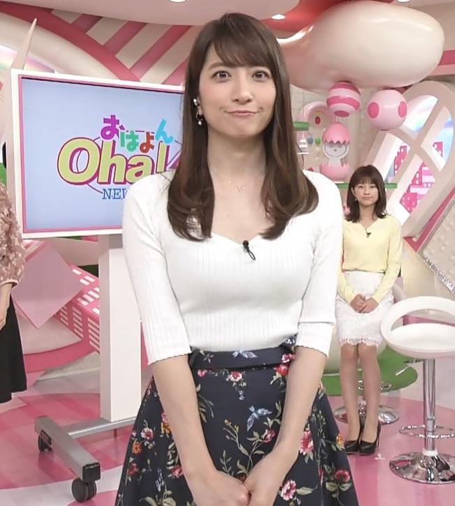 笹崎里菜アナ 安定してエロいニットおっぱい♡キャプ・エロ画像11