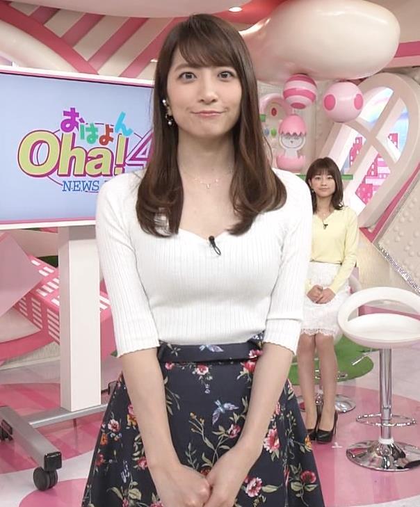 笹崎里菜アナ 安定してエロいニットおっぱい♡キャプ・エロ画像7