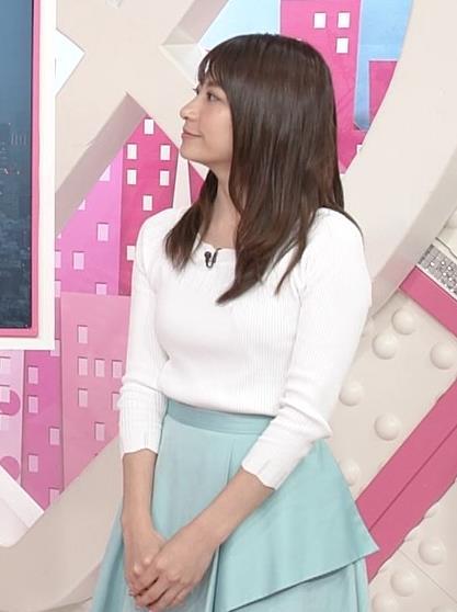 笹崎里菜アナ 白いニットキャプ・エロ画像4