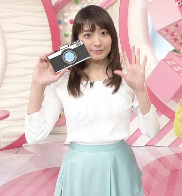 笹崎里菜アナ 白いニットキャプ・エロ画像7