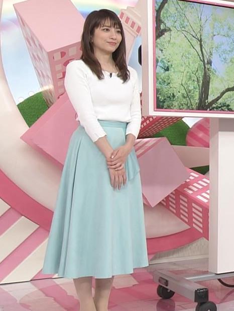 笹崎里菜アナ 白いニットキャプ・エロ画像9