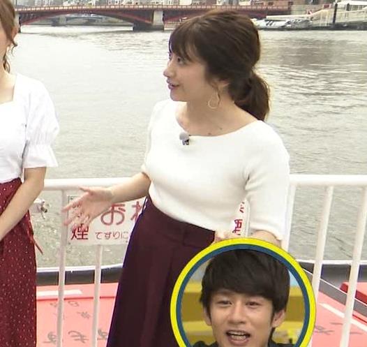 笹崎里菜アナ でかいニット乳がエロ過ぎキャプ・エロ画像