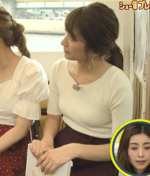 笹崎里菜アナ でかいニット乳がエロ過ぎキャプ・エロ画像14