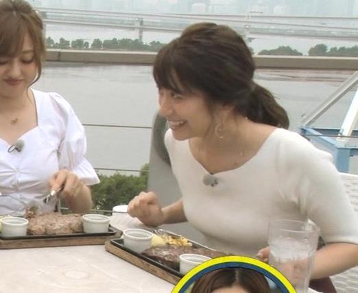 笹崎里菜アナ でかいニット乳がエロ過ぎキャプ・エロ画像16