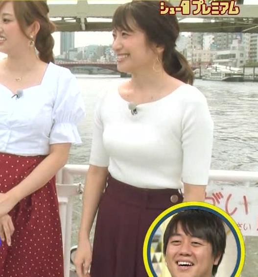 笹崎里菜アナ でかいニット乳がエロ過ぎキャプ・エロ画像3