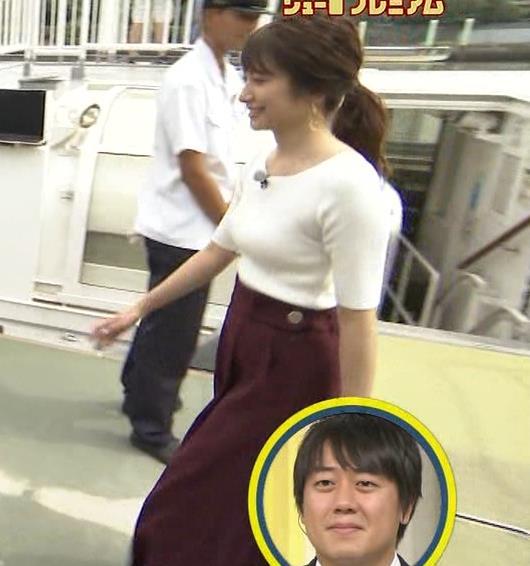 笹崎里菜アナ でかいニット乳がエロ過ぎキャプ・エロ画像4