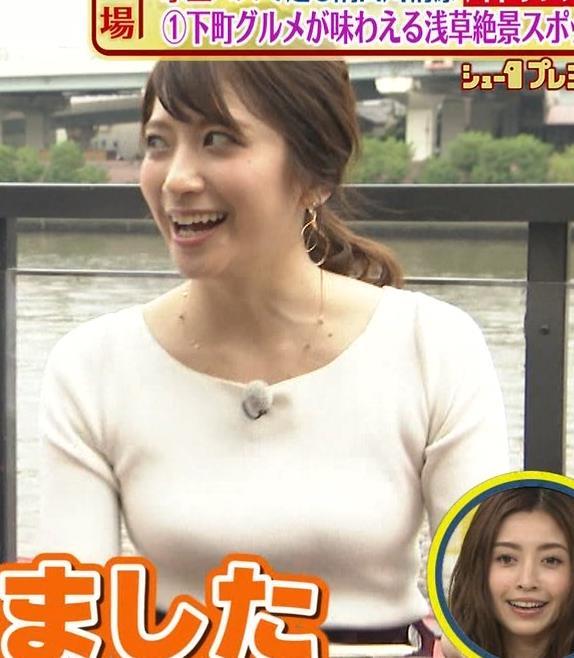 笹崎里菜アナ でかいニット乳がエロ過ぎキャプ・エロ画像6