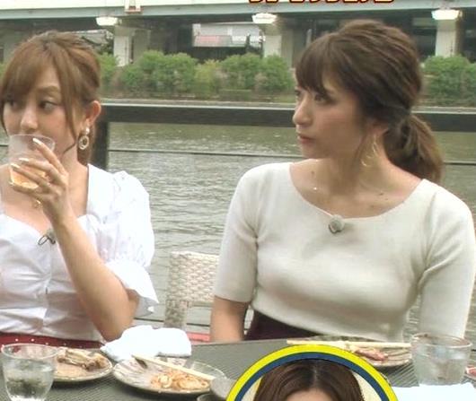 笹崎里菜アナ でかいニット乳がエロ過ぎキャプ・エロ画像7