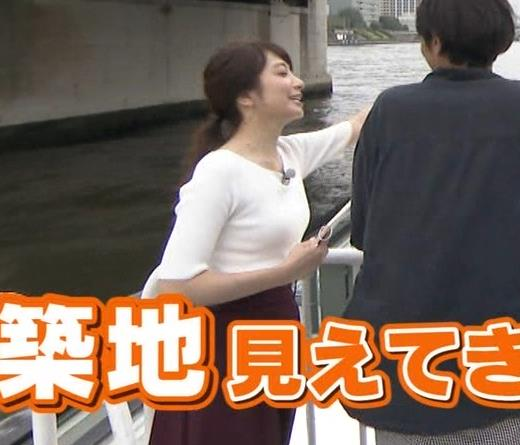 笹崎里菜アナ でかいニット乳がエロ過ぎキャプ・エロ画像8