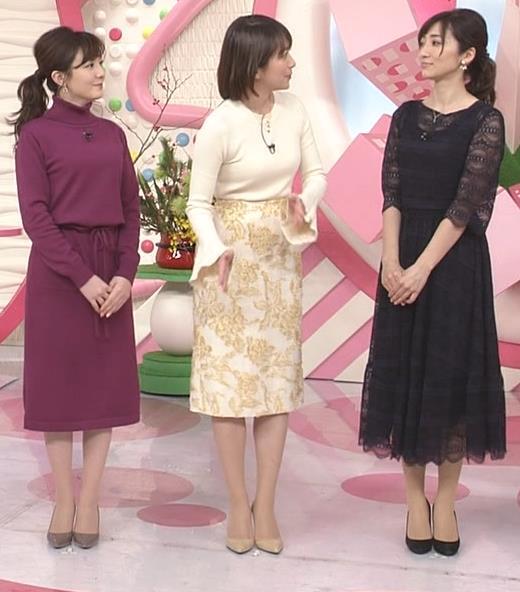 笹崎里菜アナ ピチピチのニットおっぱいキャプ・エロ画像