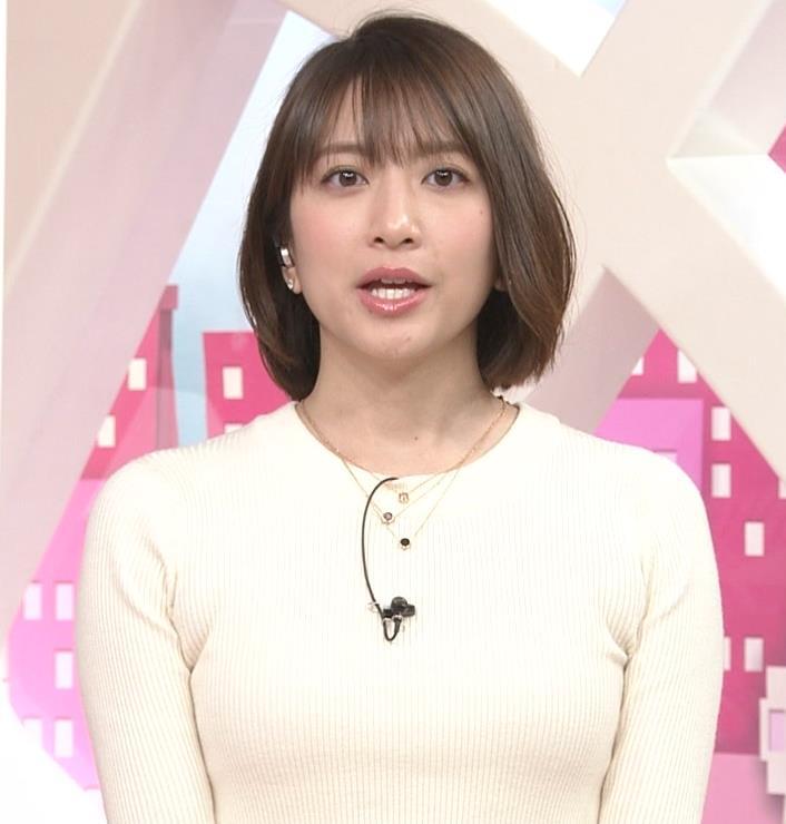 笹崎里菜アナ ピチピチのニットおっぱいキャプ・エロ画像5