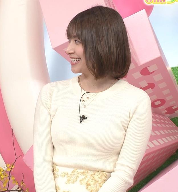 笹崎里菜アナ ピチピチのニットおっぱいキャプ・エロ画像7