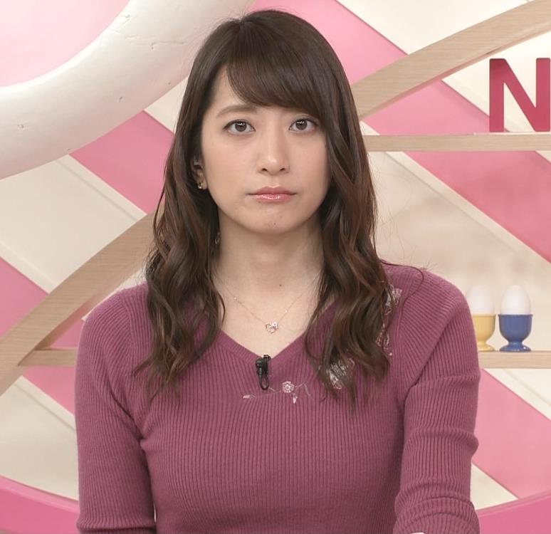 笹崎里菜アナ ニットおっぱいがクッキリしてるキャプ・エロ画像4