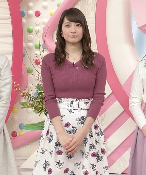 笹崎里菜アナ ニットおっぱいがクッキリしてるキャプ・エロ画像6