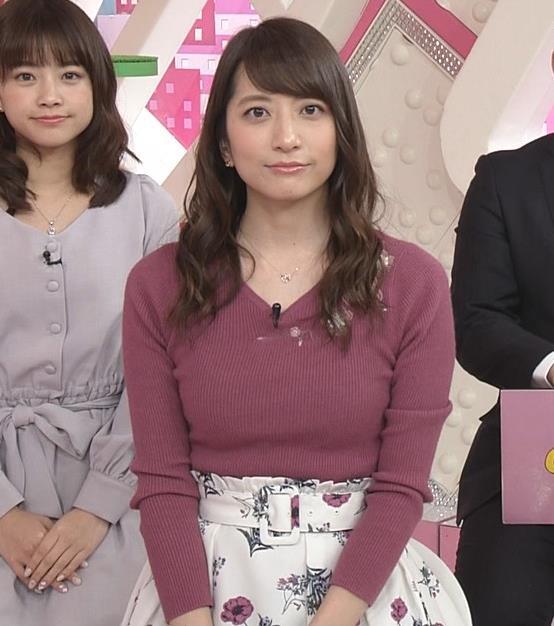 笹崎里菜アナ ニットおっぱいがクッキリしてるキャプ・エロ画像10