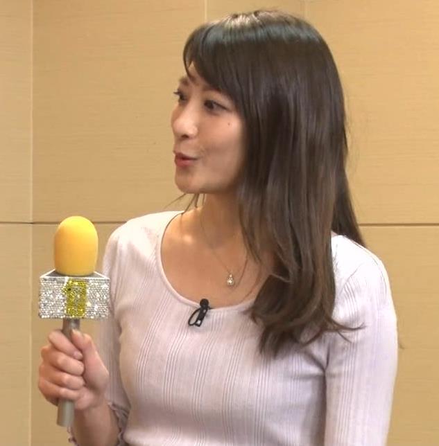 笹崎里菜アナ 乳のふくらみキャプ・エロ画像