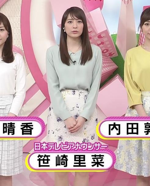 笹崎里菜アナ ミニスカで座って太もも見え過ぎキャプ・エロ画像2