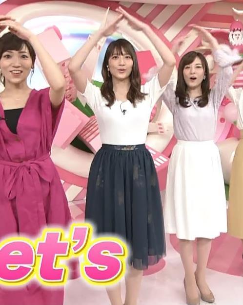 笹崎里菜アナ 白いニットのおっぱい!キャプ・エロ画像