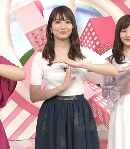 笹崎里菜アナ 白いニットのおっぱい!キャプ・エロ画像2