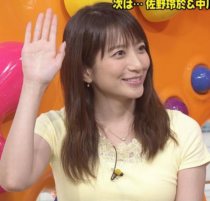 笹崎里菜アナ パツパツのTシャツでお胸が大変なことにキャプ・エロ画像7