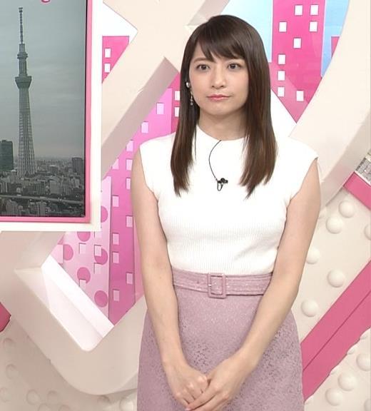 笹崎里菜アナ ピチピチニットでエロいおっぱい♥キャプ・エロ画像2