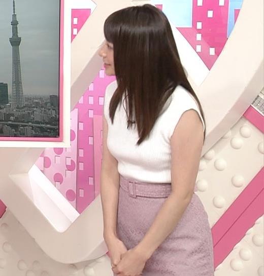 笹崎里菜アナ ピチピチニットでエロいおっぱい♥キャプ・エロ画像3