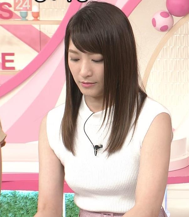 笹崎里菜アナ ピチピチニットでエロいおっぱい♥キャプ・エロ画像8