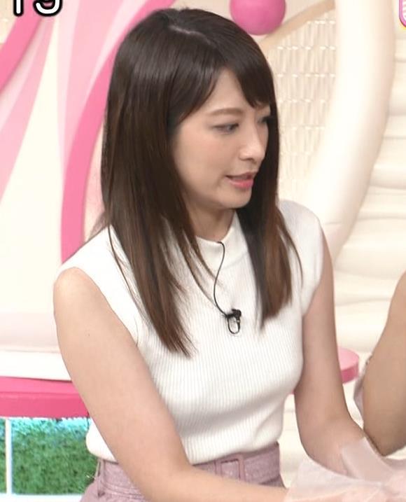 笹崎里菜アナ ピチピチニットでエロいおっぱい♥キャプ・エロ画像10