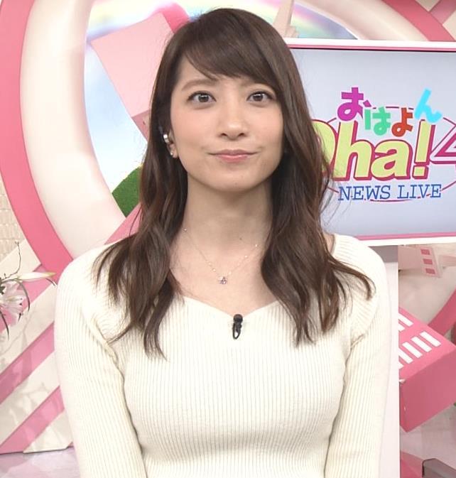 笹崎里菜アナ ニット乳&黒ストッキングキャプ・エロ画像5