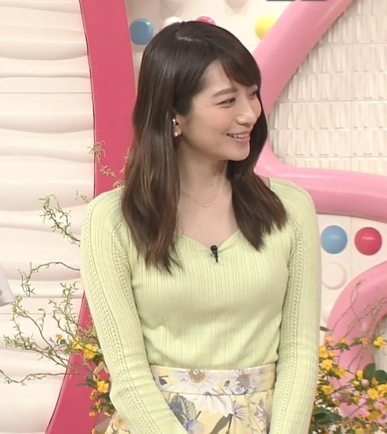 笹崎里菜アナ 安定のニット乳キャプ・エロ画像9