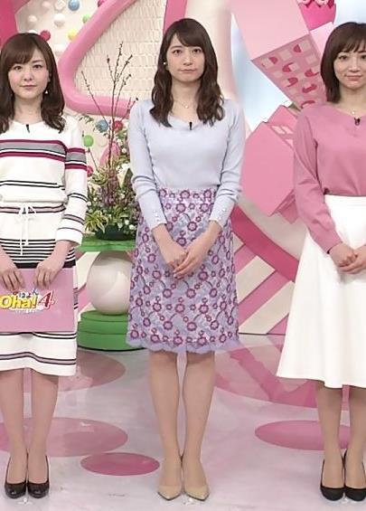 笹崎里奈アナ ニット乳+美脚キャプ・エロ画像7