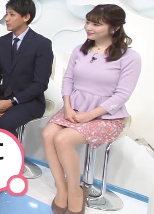 佐藤真知子アナ ムッチリ系女子アナの太もものアップキャプ・エロ画像2