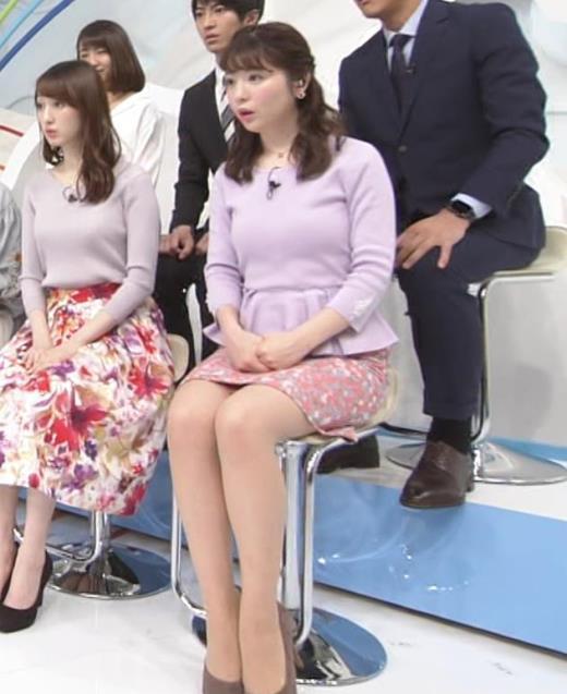 佐藤真知子 ムッチリ系女子アナの太もものアップキャプ画像(エロ・アイコラ画像)