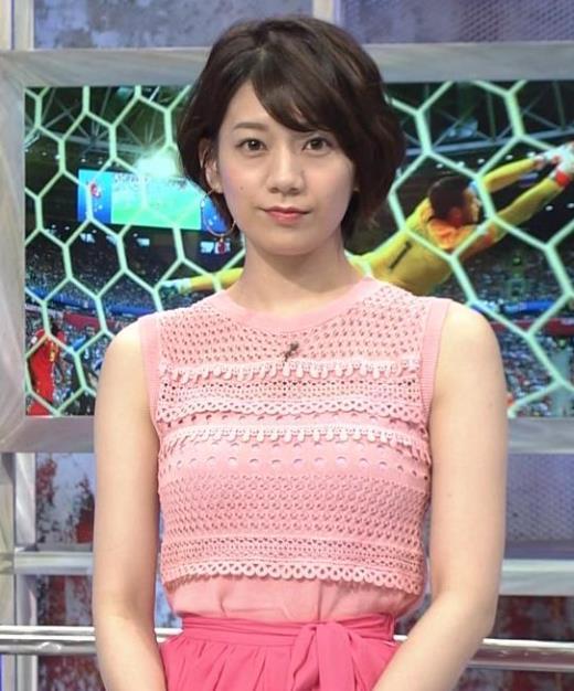 佐藤美希 おっぱいが目立つピンクのノースリーブキャプ画像(エロ・アイコラ画像)