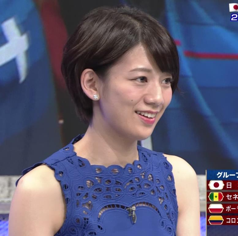 佐藤美希 ワールドカップ日本戦中継のワンピースがエロ過ぎキャプ・エロ画像12