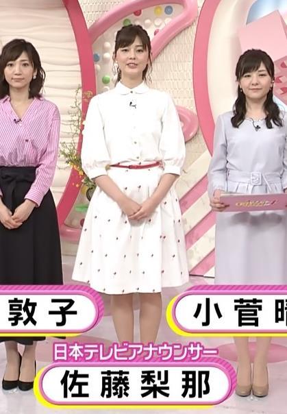 佐藤梨那アナ スカート美脚キャプ・エロ画像8