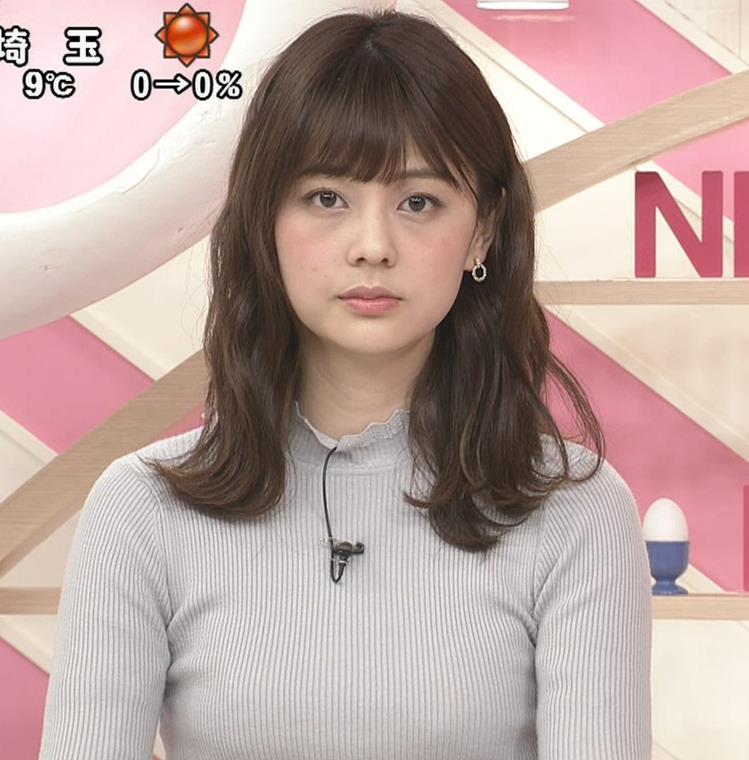 佐藤梨那アナ エロいピチピチニットキャプ・エロ画像3