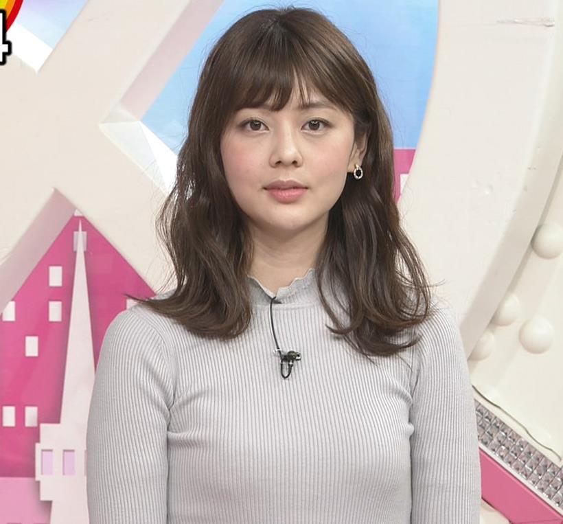 佐藤梨那アナ エロいピチピチニットキャプ・エロ画像5