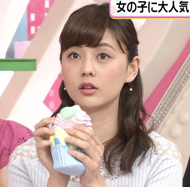 佐藤梨那アナ 肩が透けたニットの乳キャプ・エロ画像8