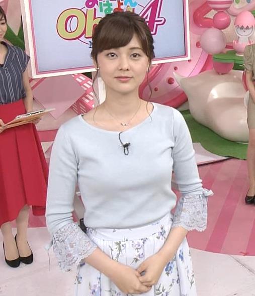 佐藤梨那アナ 日テレ美人アナの横乳キャプ・エロ画像5