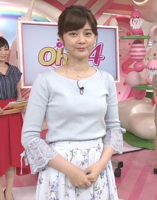 佐藤梨那アナ 日テレ美人アナの横乳キャプ・エロ画像6