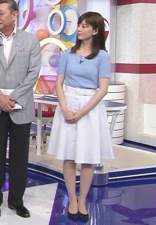 佐藤梨那アナ 半袖ニット乳キャプ・エロ画像