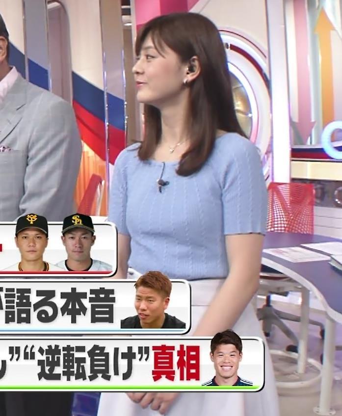 佐藤梨那アナ 半袖ニット乳キャプ・エロ画像2