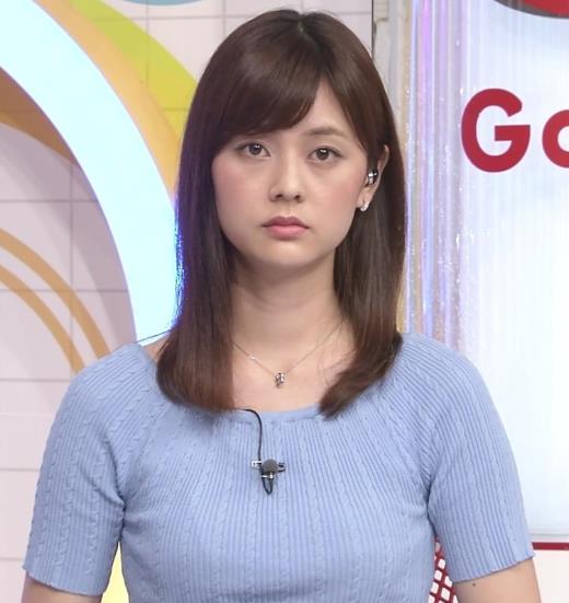 佐藤梨那 半袖ニット乳キャプ画像(エロ・アイコラ画像)