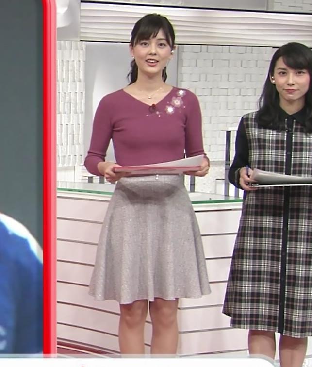 佐藤梨那アナ 日テレ美人アナのニットおっぱい♡キャプ・エロ画像