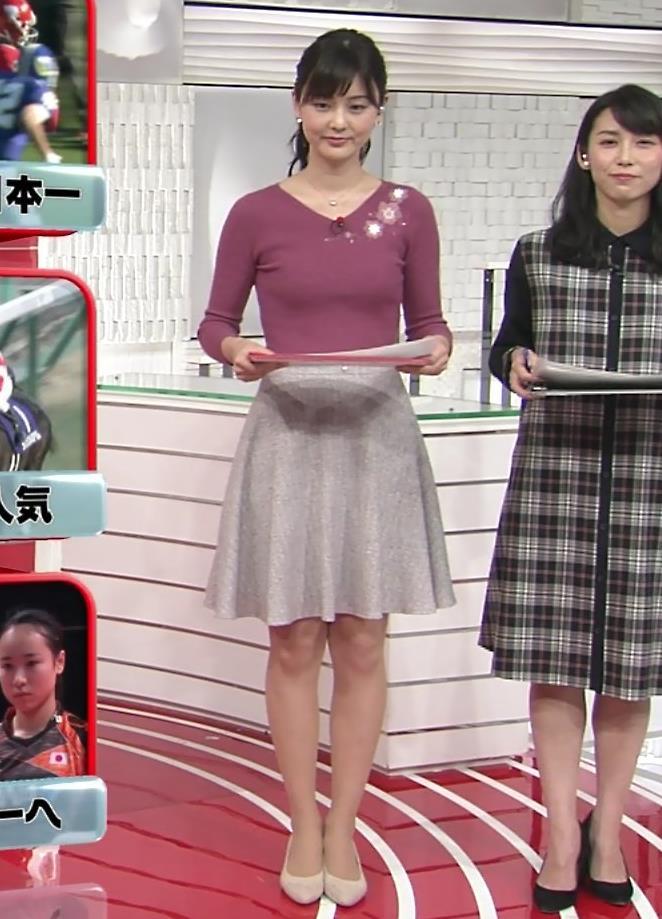 佐藤梨那アナ 日テレ美人アナのニットおっぱい♡キャプ・エロ画像2