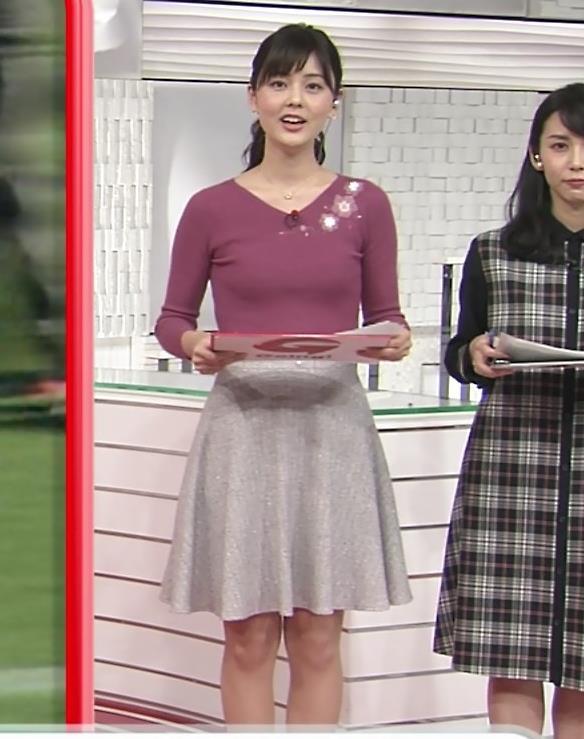 佐藤梨那アナ 日テレ美人アナのニットおっぱい♡キャプ・エロ画像3